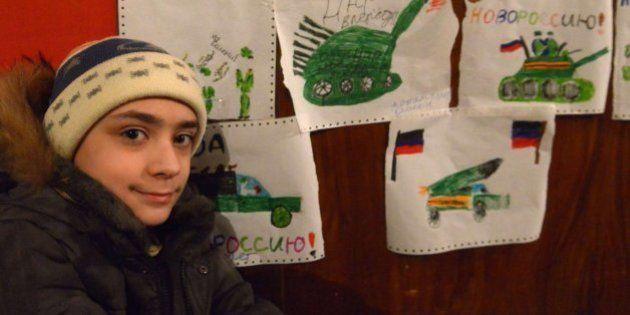 Así es la vida entre bombardeos de los niños de Donetsk