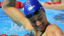 Esta es Mireia Belmonte con cara de medalla (otra