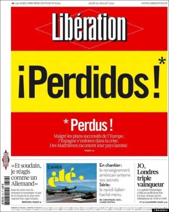 El diario francés 'Libération' dedica su portada a