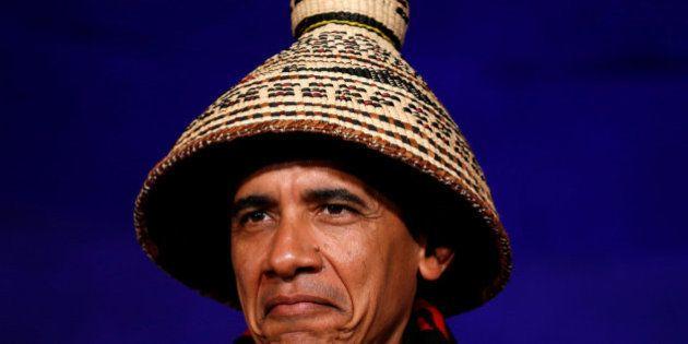 La curiosa imagen de Obama en la Conferencia de Naciones