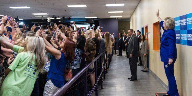 La historia tras esta foto de Hillary