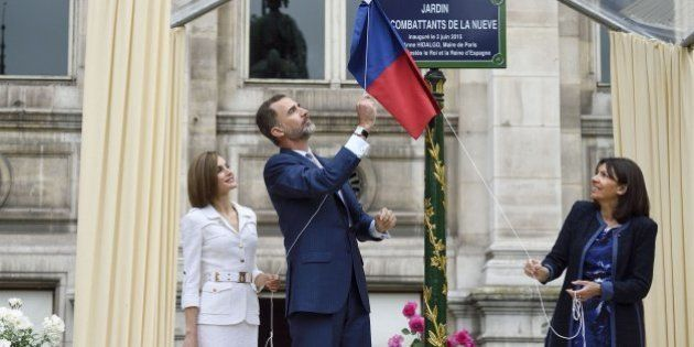 Los reyes homenajean a los republicanos de 'La Nueve' que liberaron