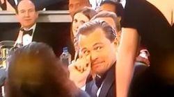 El susto de Lady Gaga a Leonardo DiCaprio en los Globos de Oro
