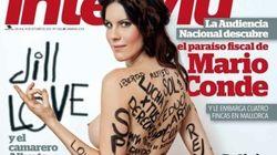La hippy desnuda del 25S en la portada de Interviú