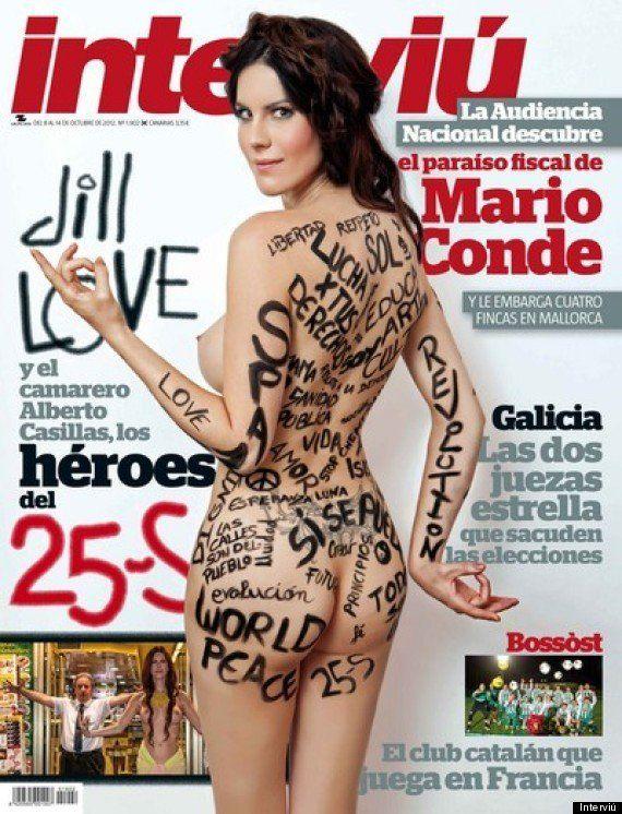 Jill Love: la hippy desnuda, del 25S a la portada de Interviú