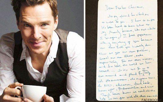 Benedict Cumberbatch emociona al mundo con su carta a Papá Noel en la que pide ayuda para los