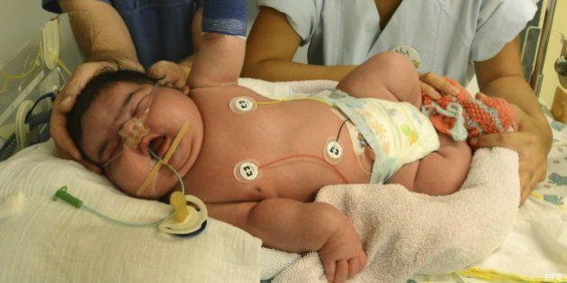 6,11 kilos y sin cesárea: el bebé más grande de