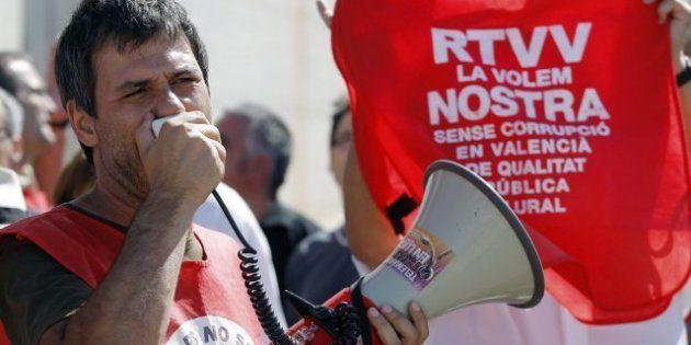 Los trabajadores de RTVV inician una huelga de 48 horas en protesta por el ERE