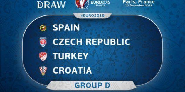 Eurocopa 2016: España jugará contra Croacia, República Checa y