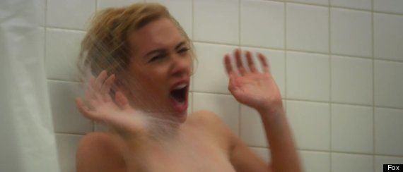 Película 'Hitchcock': Scarlett Johansson gritando como en 'Psicosis' (VÍDEO,
