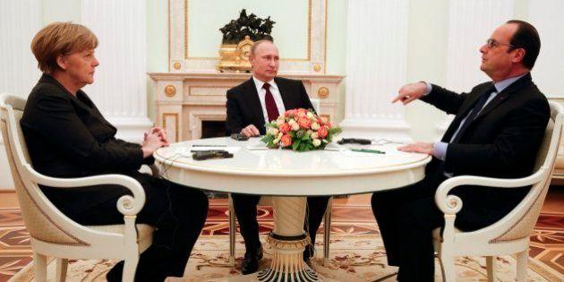 Hollande y Merkel impulsan una reunión a cuatro bandas con Poroshenko y