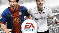 Soldado y Messi, portada del 'FIFA 13'