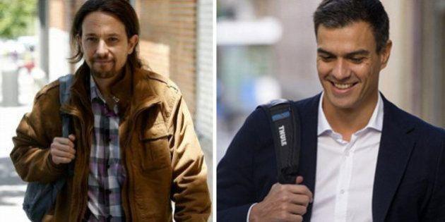 Pedro Sánchez y Pablo Iglesias se muestran