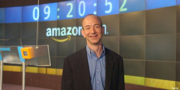 NEW YORK - AUGUST 22: Amazon.com Founder & CEO Jeff Bezos poses for a photo before opening The NASDAQ...