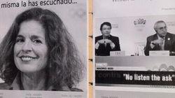 La imagen de Botella, en carteles en defensa de las Escuelas de