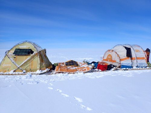 Tres soles a las puertas de la Cumbre de Hielo de