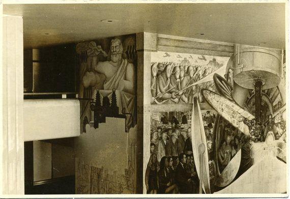 Sert, el único pintor que se atrevió a cubrir el mural de Diego