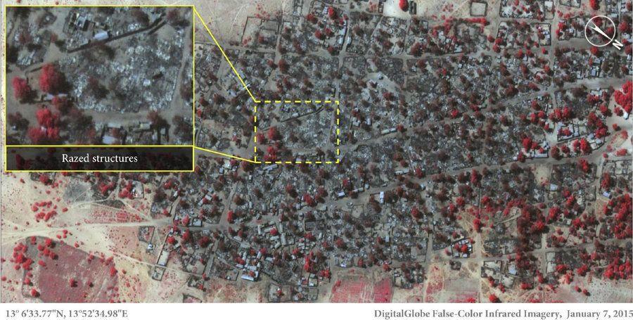 La matanza de Boko Haram en Nigeria: foto del antes y el después en Doron