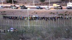 Unos 25 inmigrantes, encaramados a la valla de