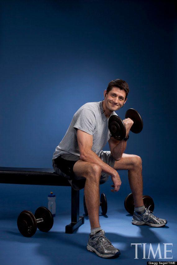 Paul Ryan se prepara para las elecciones en EEUU... en el gimnasio