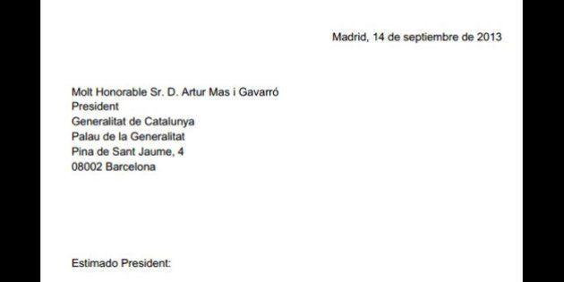 Carta de Mariano Rajoy a Artur Mas: lee aquí el texto íntegro del