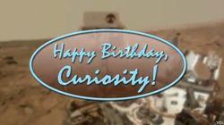 El Curiosity se canta el 'Cumpleaños feliz'