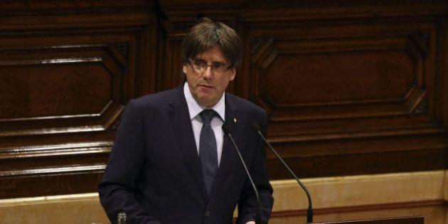 Puigdemont anuncia su intención de convocar un referéndum de independencia para otoño de