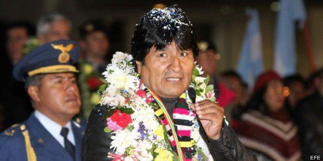 Evo Morales en La Paz: el presidente boliviano vuelve a casa tras 13 horas retenido en