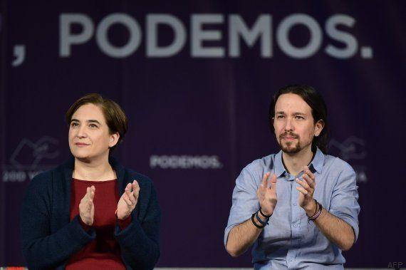 Iglesias y Colau emocionan en la Caja Mágica: