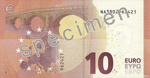 Los nuevos billetes de diez euros comenzarán a circular el 23 de