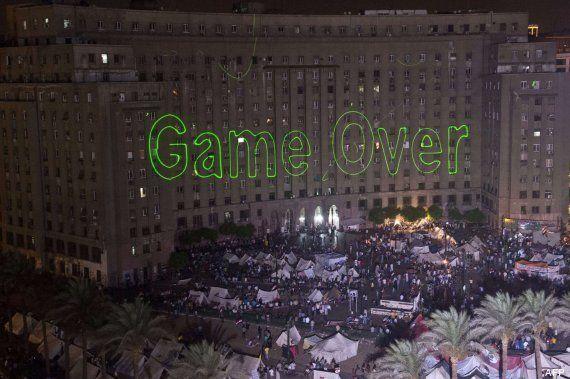Láser verde: el símbolo de la revolución en Egipto (VIDEOS,