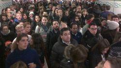 La estación de metro de Sol en Madrid, cerrada 40 minutos por aglomeraciones