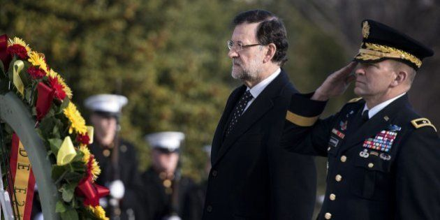 Rajoy honra a los soldados caídos por EEUU en su primer acto en