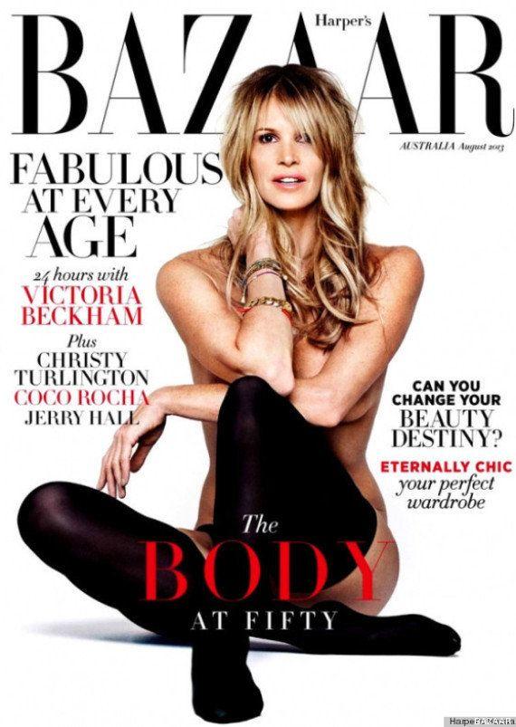 Elle Macpherson: 'El cuerpo' repite portada desnuda a los 49 años