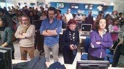 Los trabajadores de TVE protestan por la creación de una 'redacción