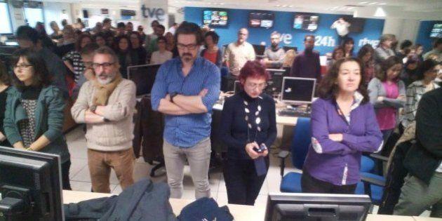Los trabajadores de TVE protestan por la contratación de periodistas de Intereconomía