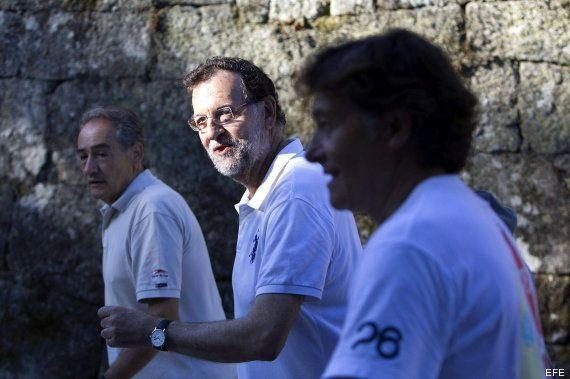 Rajoy, de senderismo con Gómez Noya, campeón del mundo de triatlón