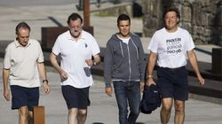 Rajoy, de senderismo con el campeón del mundo de triatlón