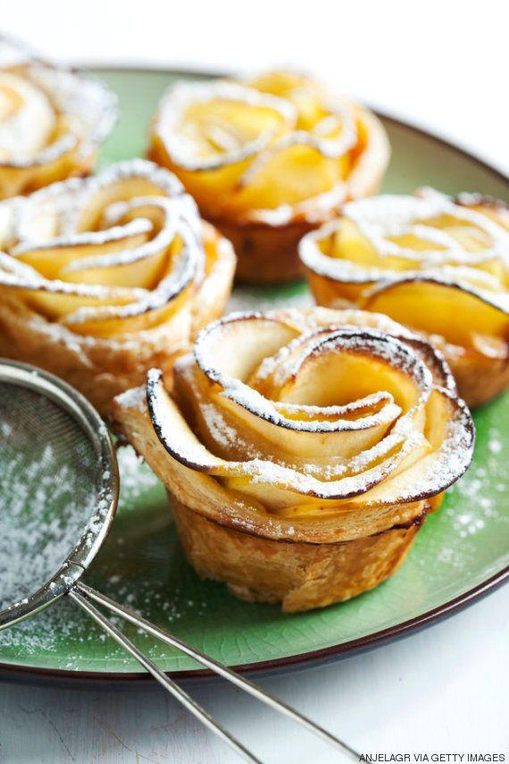 Cómo hacer una rosa de manzana y hojaldre: es más fácil de lo que