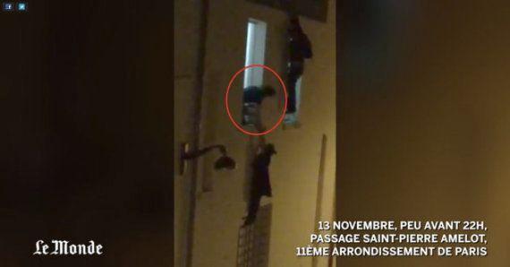La mujer embarazada colgada de la ventana de Bataclan encuentra a su