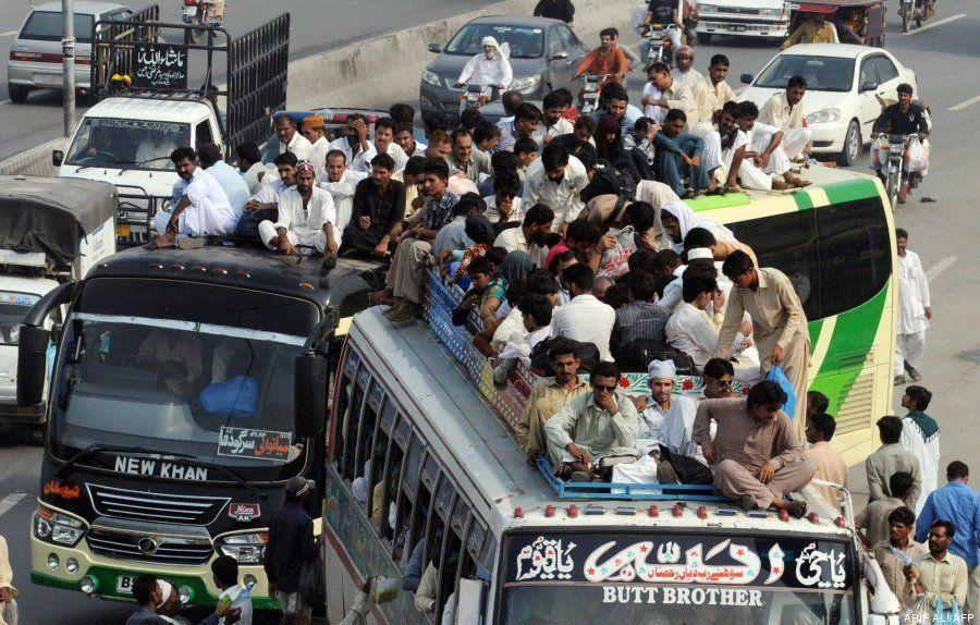 Fin del Ramadán: éxodo masivo