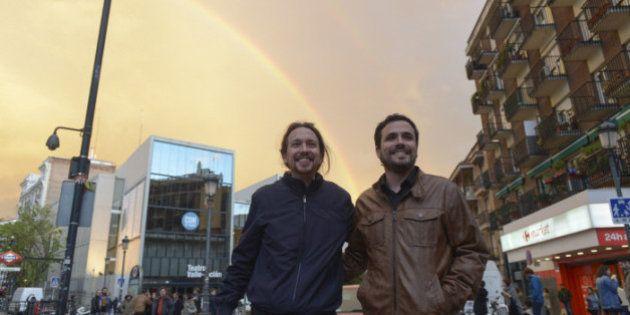 Un doble arcoíris y otros 10 fotones del pacto entre Podemos e Izquierda