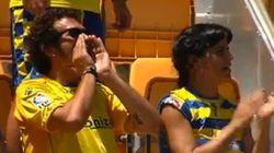 El 'Kichi' y Teresa Rodríguez lo dan todo animando al