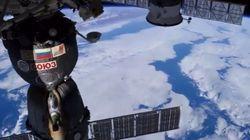 El mundo, desde una ventana de la Estación Espacial Internacional