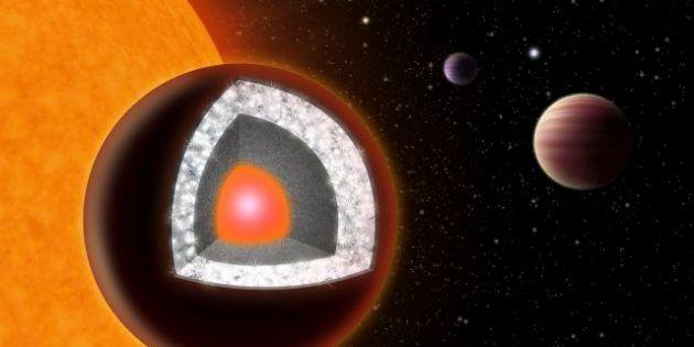 Descubren un planeta dos veces más grande que la Tierra compuesto de diamante y