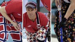 Los pantalones del equipo noruego de curling son siempre muy...