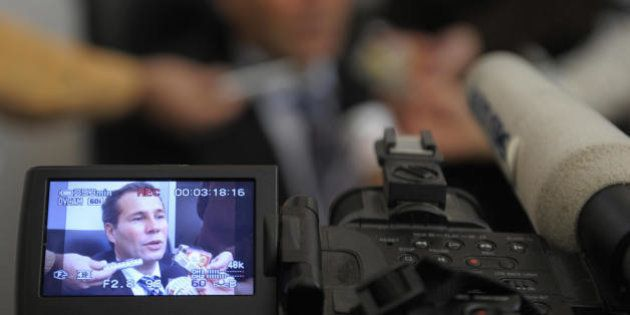 Argentina's Public Prosecutor Alberto Nisman gives a news conference in Buenos Aires on May 20, 2009....