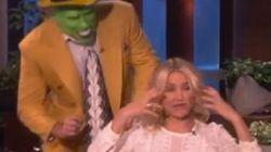 El gran susto de Cameron Diaz al ser sorprendida por 'La Máscara'