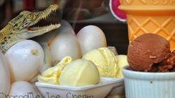 Sabores de helados raros, raros,