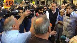 Pelea ante la sede del PSOE: